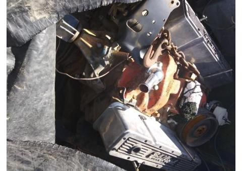 Chevy 350 long block motor