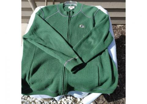 Green Bay Packer Zippered Knit Sweater 3X - $20 (Pewaukee)