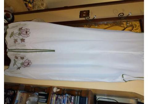 Beaded long dress and jacket