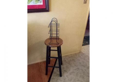 Bar stool, wine rack